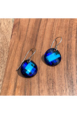 Diablo Organics Diablo Organics Bermuda Blue twist Swarovski traditional earrings on silver hooks