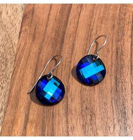 Diablo Organics Diablo Organics Silver & Bermuda Blue Twist Earrings