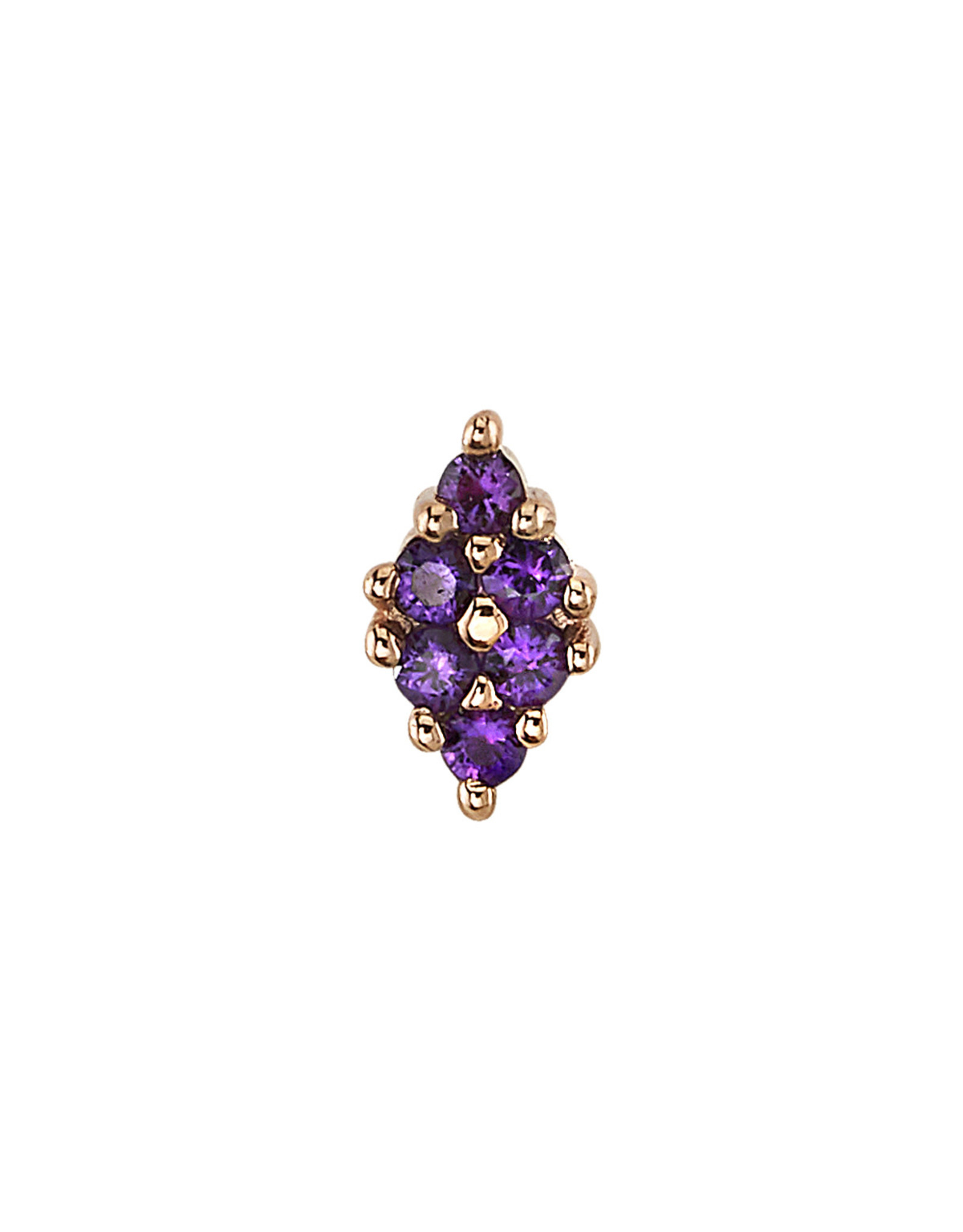 """BVLA BVLA rose gold """"Oasis"""" press fit end with 6x 1.0 amethyst"""