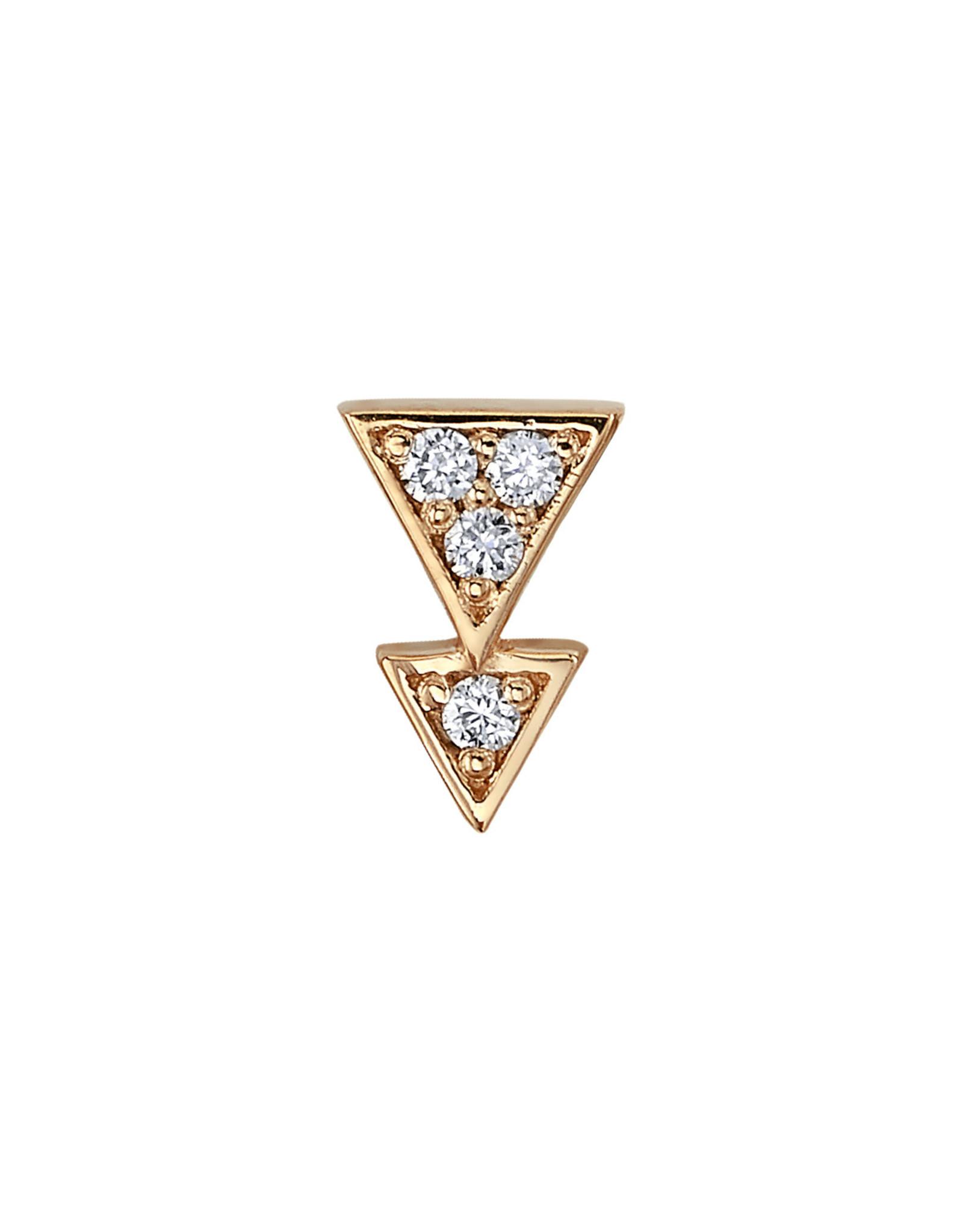 "BVLA BVLA ""Fate"" press fit end with 4x 1.0 VS1 diamonds"
