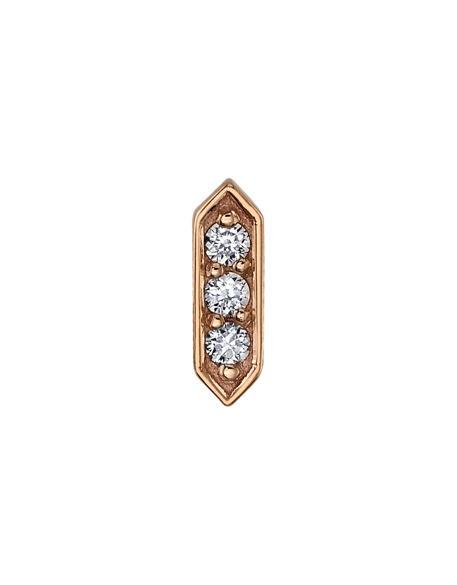 """BVLA BVLA """"Sillan"""" press fit end with 3x 1.25 VS1 Diamond"""