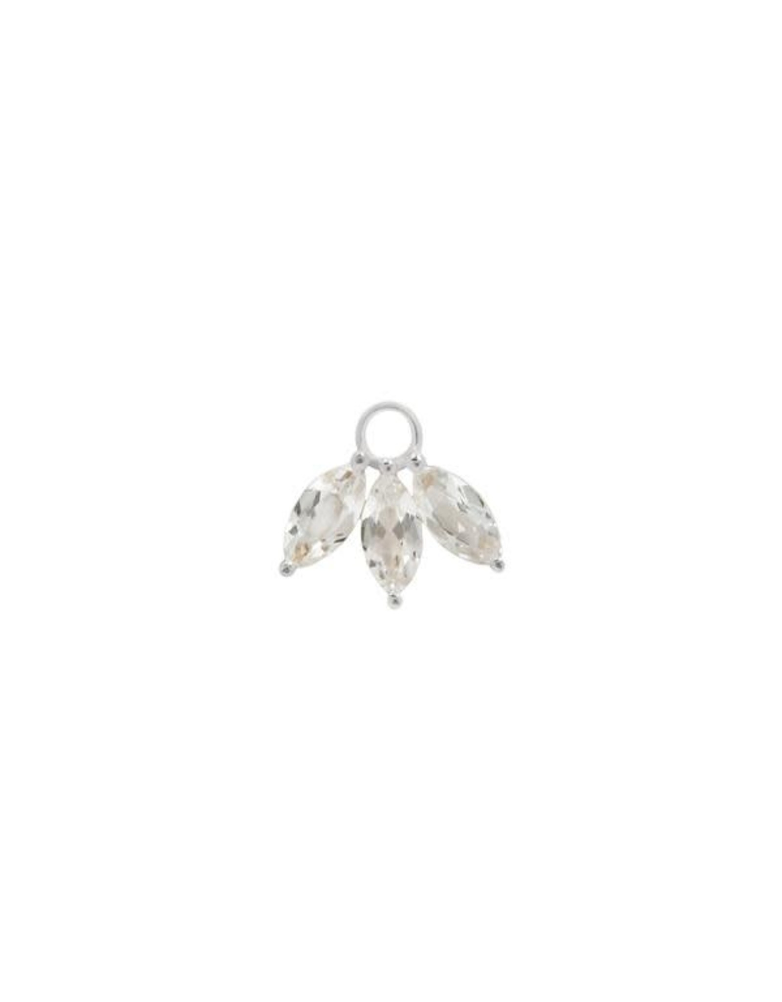 """Buddha Jewelry Organics Buddha Jewelry Organics """"Moet"""" charm with marquise white topaz"""