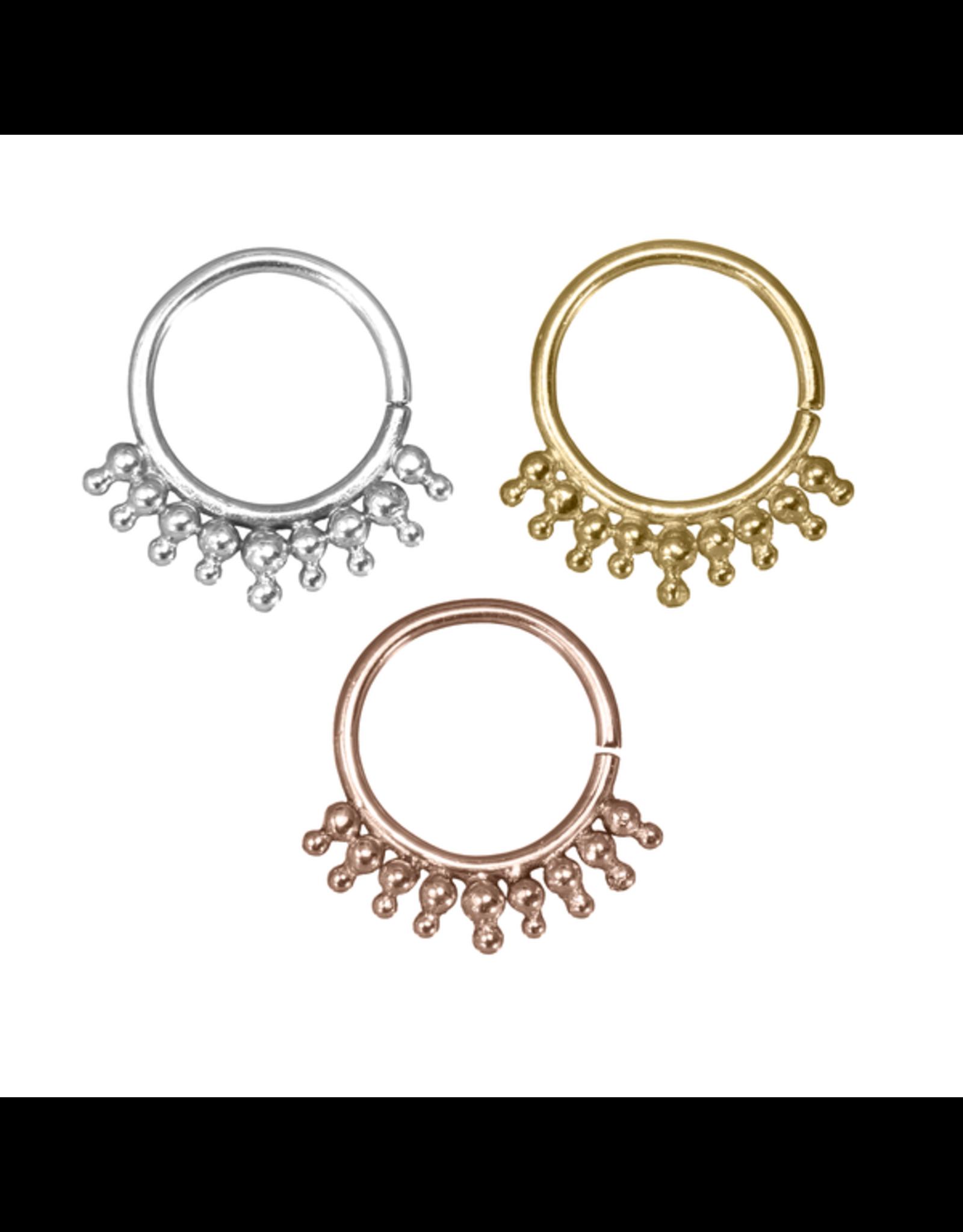 """Buddha Jewelry Organics Buddha Jewelry Organics 16g 5/16 """"Cora"""" seam ring"""