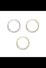 "Buddha Jewelry Organics Buddha Jewelry Organics 16g 5/16 ""Dia"" clicker with mercury mist topaz."