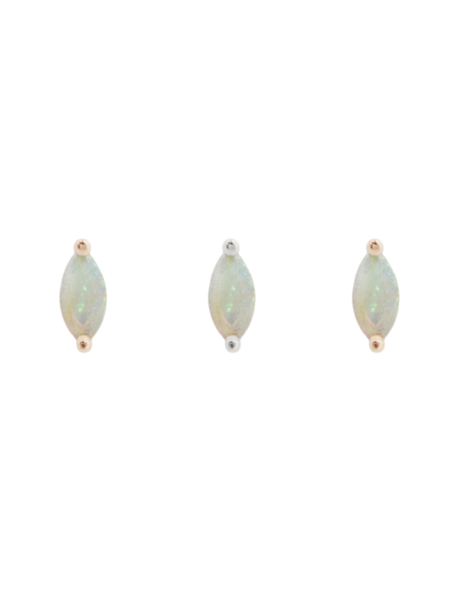 """Buddha Jewelry Organics Buddha Jewelry Organics """"Zuri"""" press fit end with Marquise White Opal"""