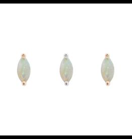 "Buddha Jewelry Organics BJO ""Zuri"" With Marquise White Opal"