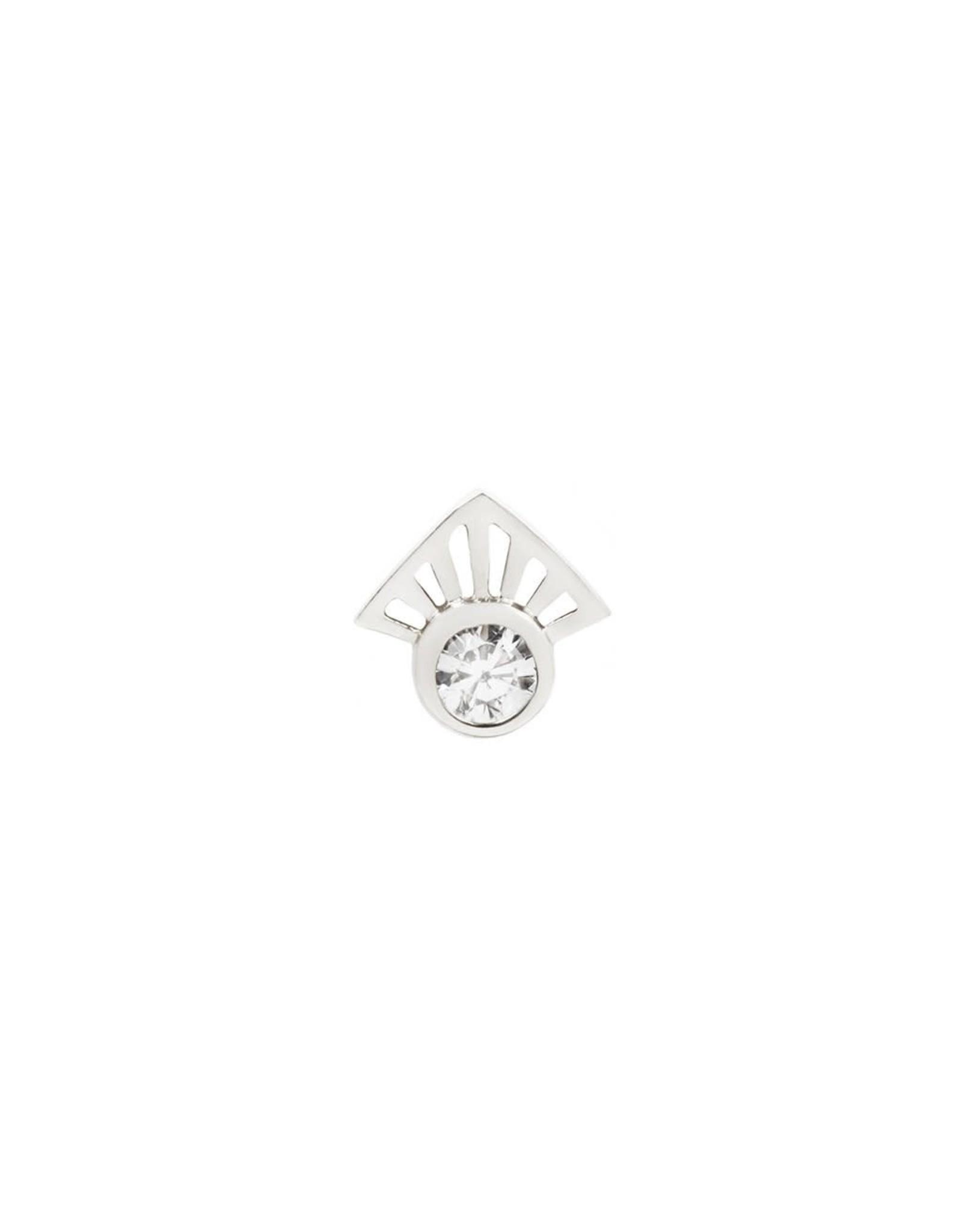 """Buddha Jewelry Organics Buddha Jewelry Organics """"Dali"""" press fit end with Swarovski CZ."""