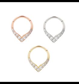 "Buddha Jewelry Organics BJO ""Rise & Shine"" clicker with CZ"