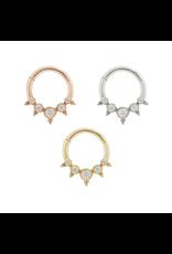 "Buddha Jewelry Organics Buddha Jewelry Organics 16g 5/16 ""Simone"" clicker with CZ"