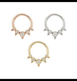 """Buddha Jewelry Organics BJO """"Simone"""" Clicker with CZ"""