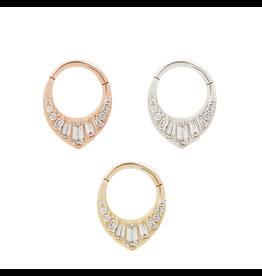 """Buddha Jewelry Organics BJO """"Prism"""" Clicker with CZ"""