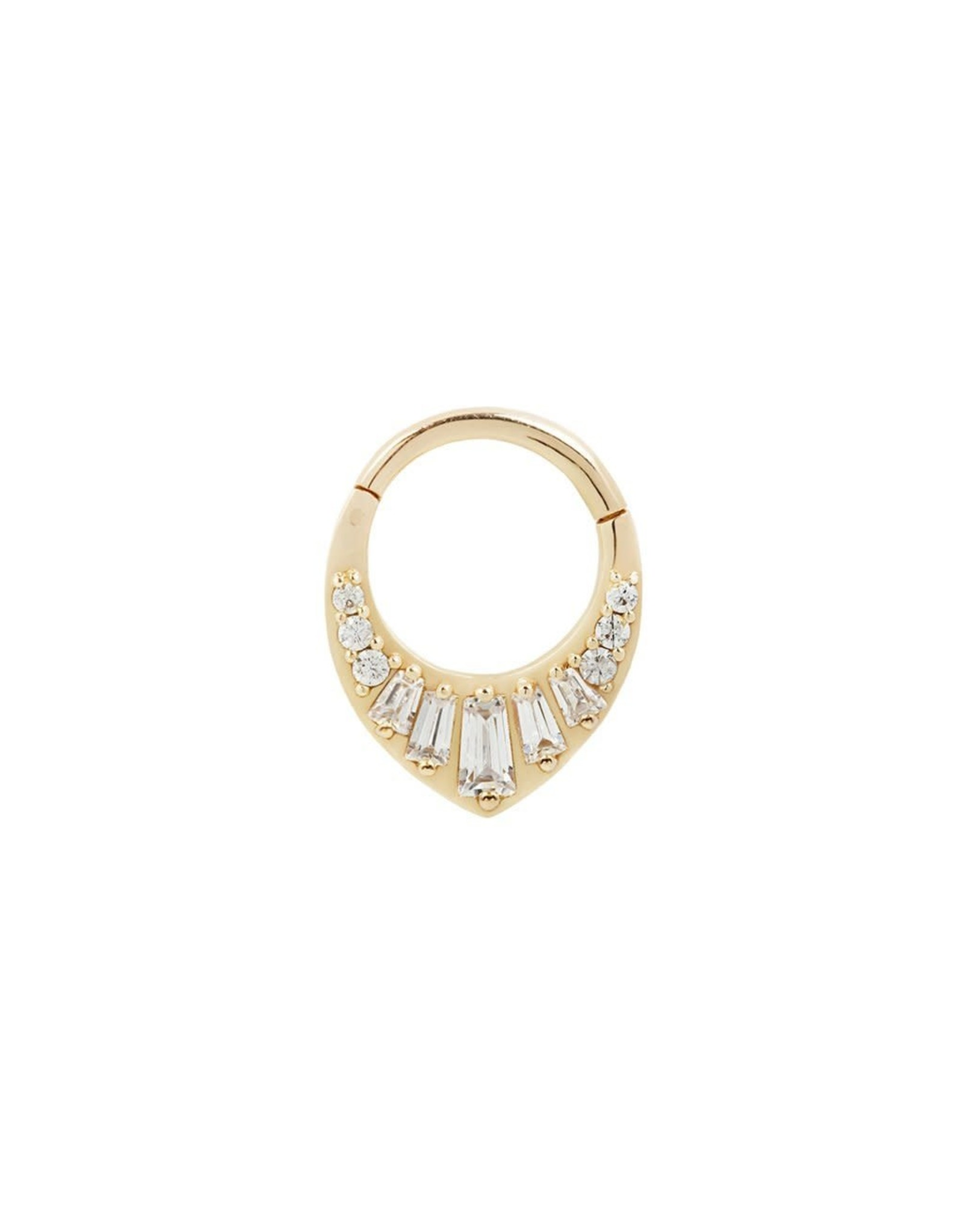 """Buddha Jewelry Organics Buddha Jewelry Organics """"Prism"""" clicker with brilliant and baguette CZ's"""
