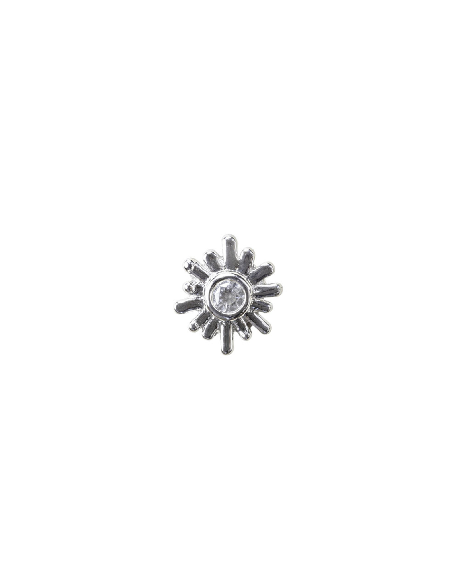 """BVLA BVLA  gold """"Sunray"""" press fit end with 1.5 CZ"""