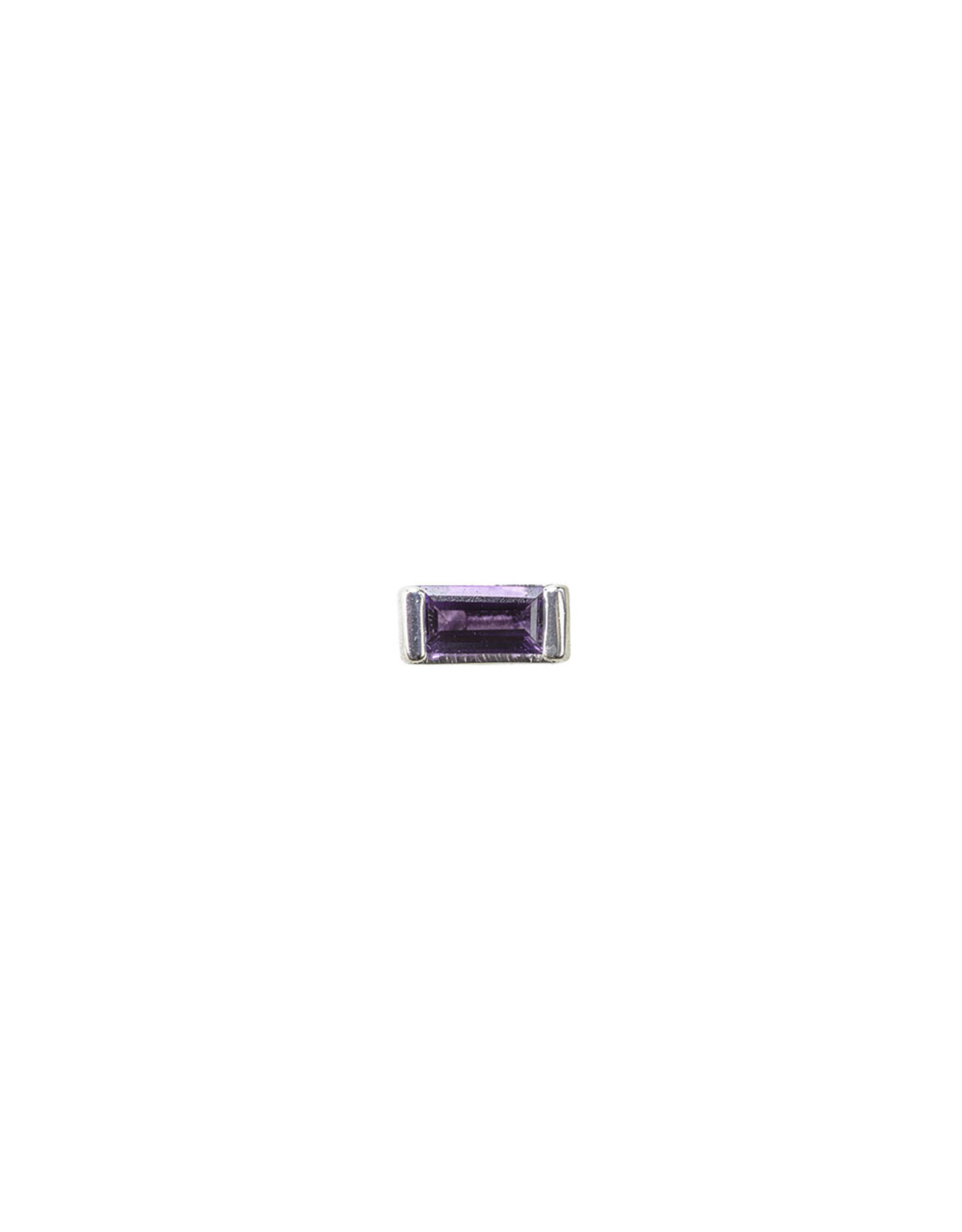 BVLA 18g BVLA baguette with 3x1.5 Amethyst white gold