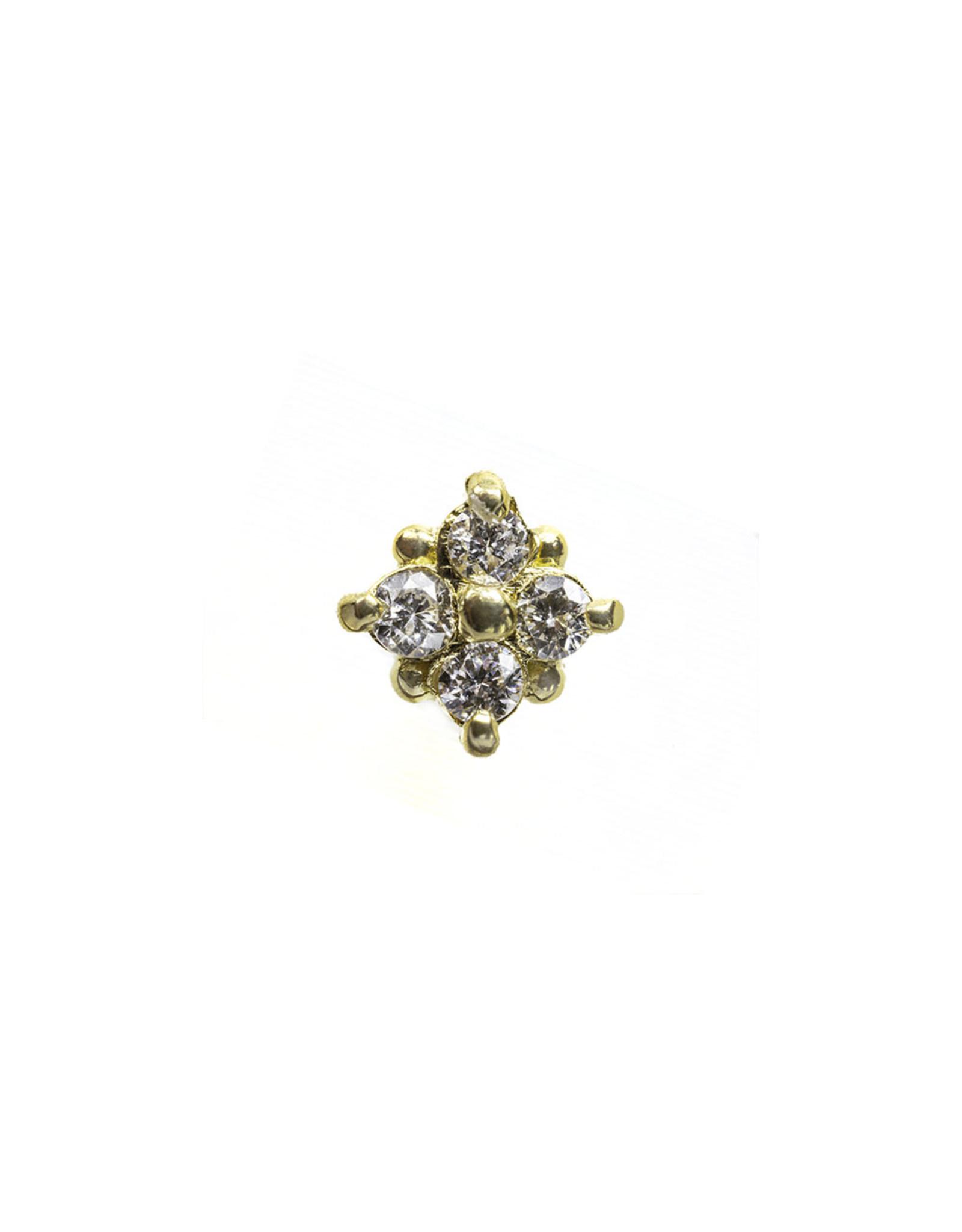 "BVLA BVLA ""Reema"" press fit end with 4x  VS1 Diamond"