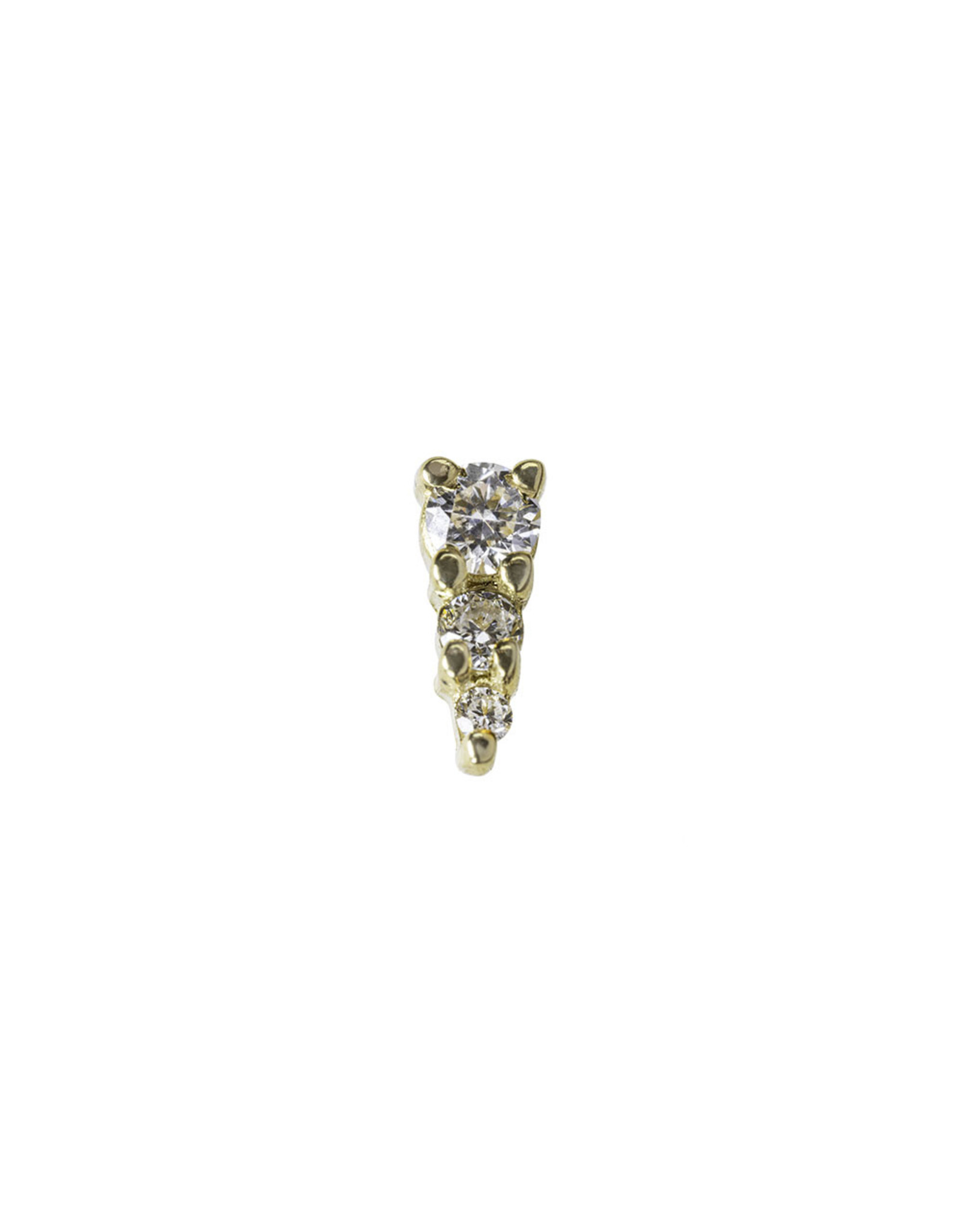 """BVLA BVLA yellow gold """"Jeanie 3"""" press fit end with 2.0, 1.5, and 1.0 VS1 Diamond"""