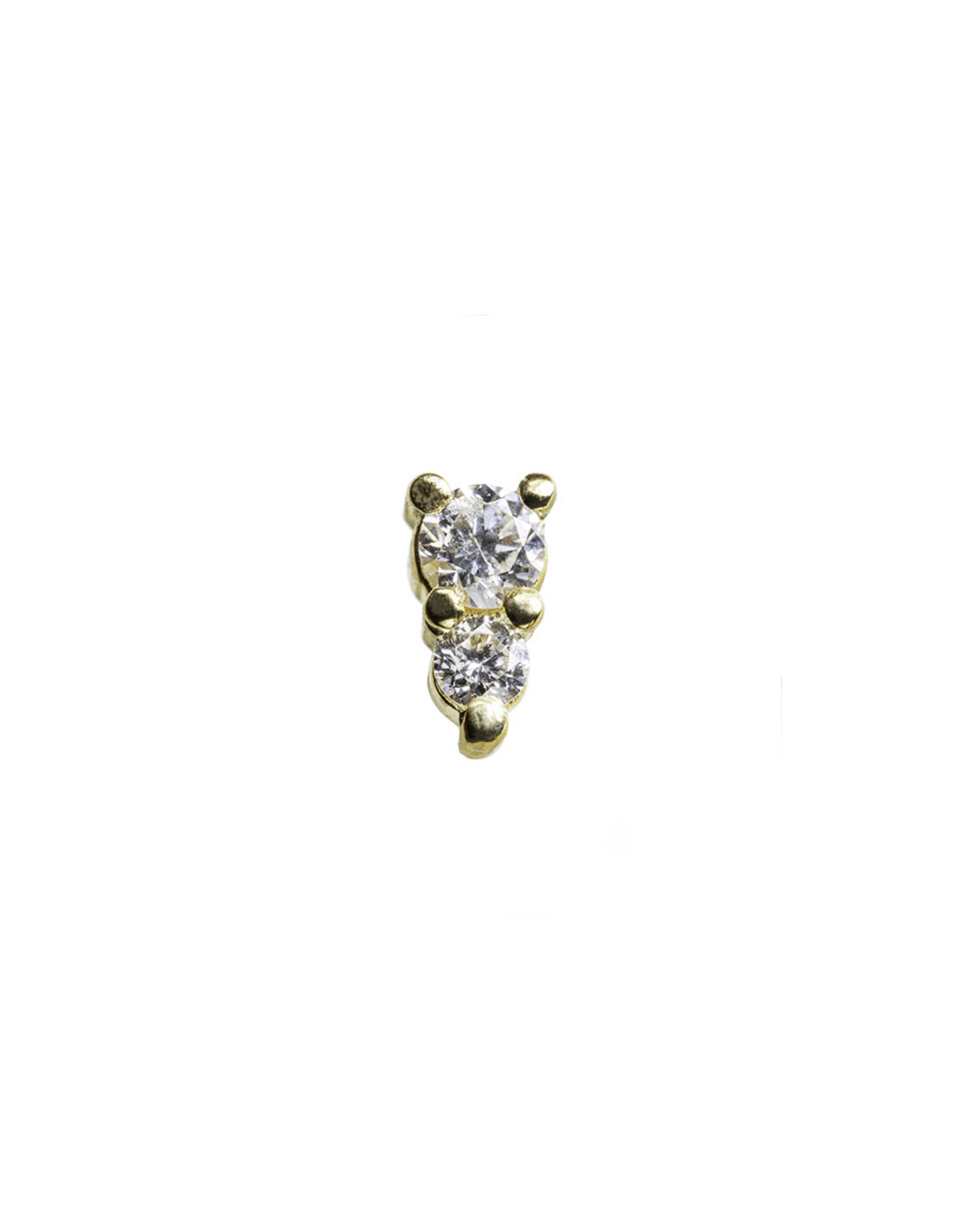 """BVLA BVLA yellow gold """"Jeanie 2"""" with 2.0 and 1.5 VS1 Diamond"""