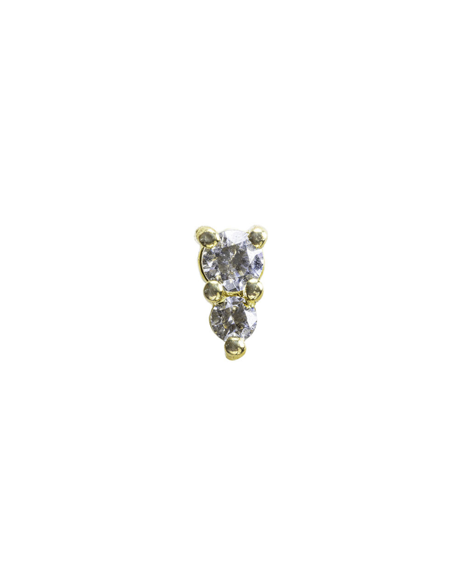 """BVLA BVLA """"Jeanie 2"""" press fit end with 2.0 and 1.5 CZ"""