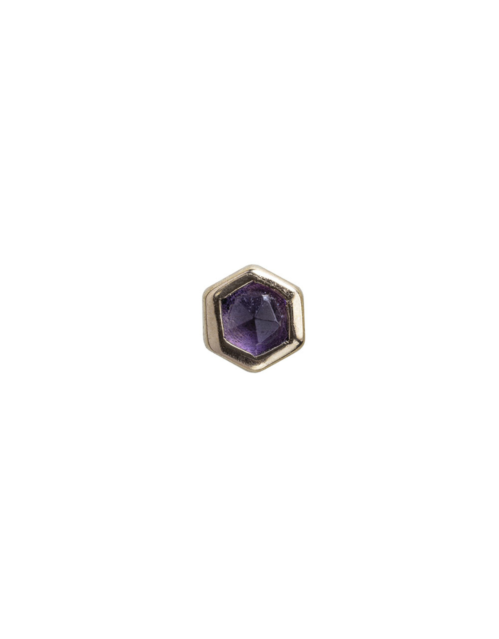 BVLA BVLA rose gold honeycomb press fit end with 2.0 rose cut AA Amethyst