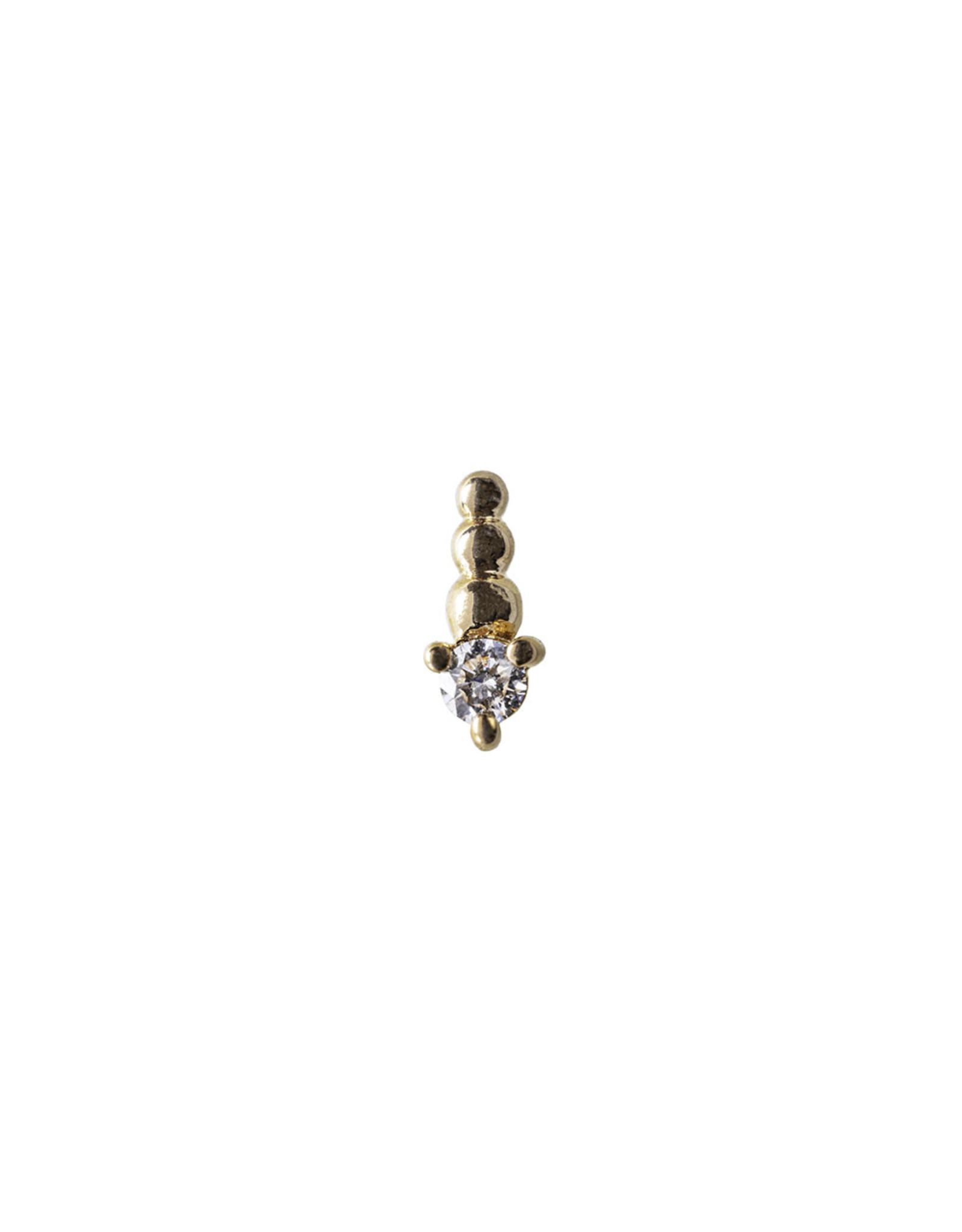 "BVLA  BVLA rose gold ""Glow Worm"" press fit end with 2.0 VS1 diamond"