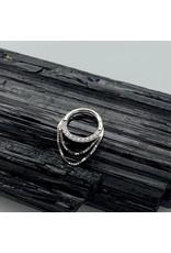 """Buddha Jewelry Organics Buddha Jewelry Organics 16g 5/16 """"Tempeste"""" clicker with chains & Swarovski CZ"""