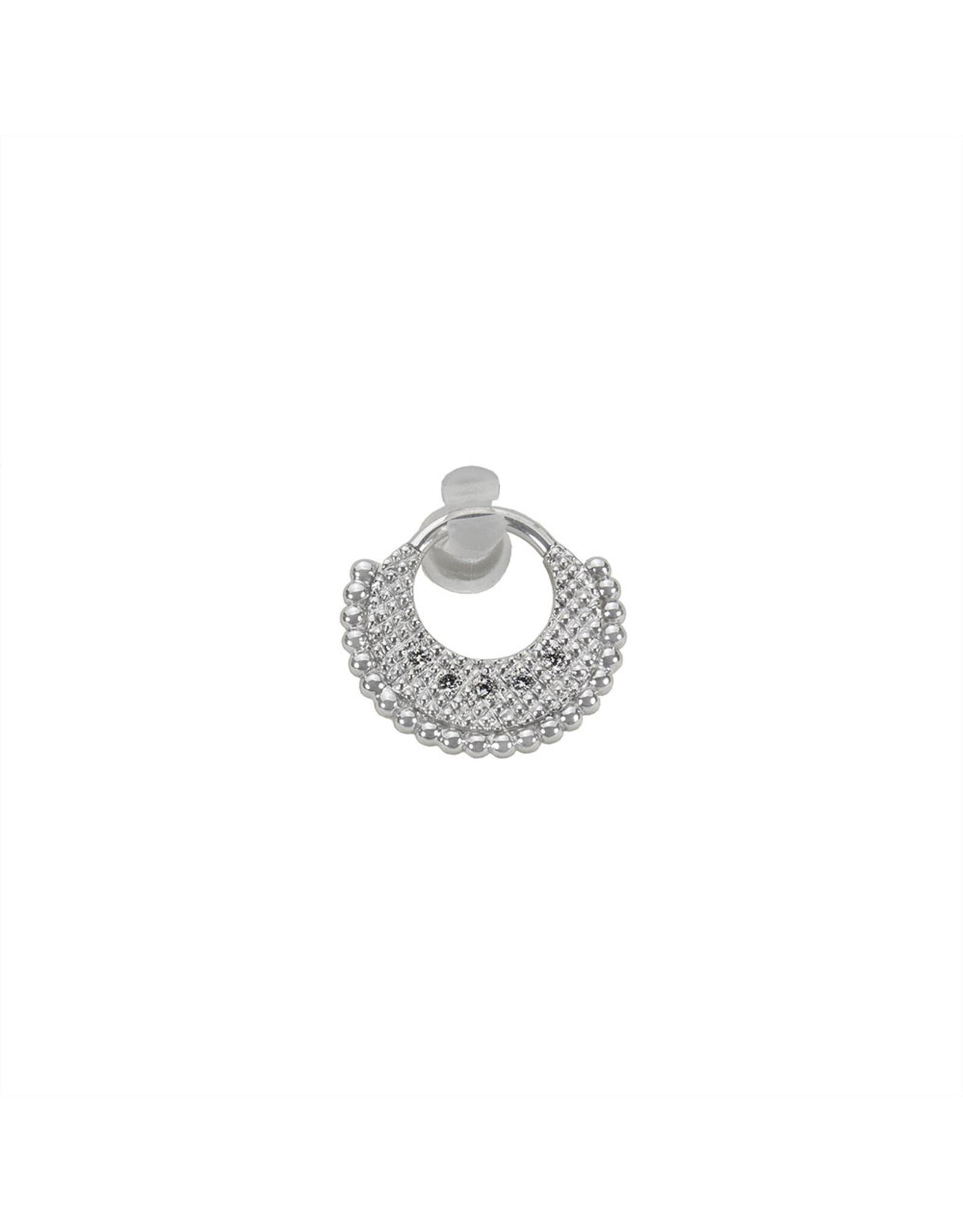 """BVLA BVLA 16g 5/16 white gold """"Inara"""" clicker with 5x 1.25 VS1 Diamonds"""