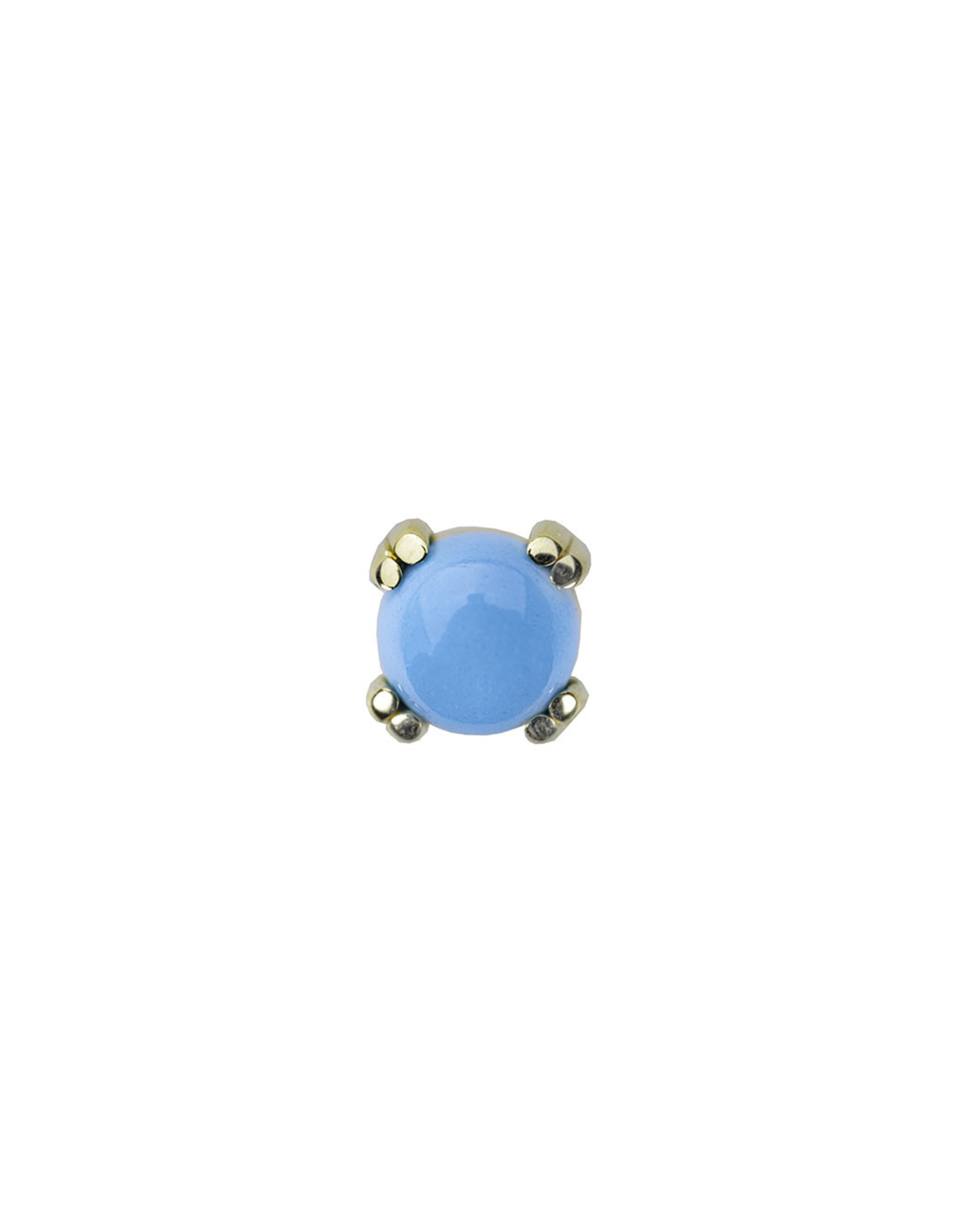 BVLA BVLA prong-set cabochon press-fit end with turquoise