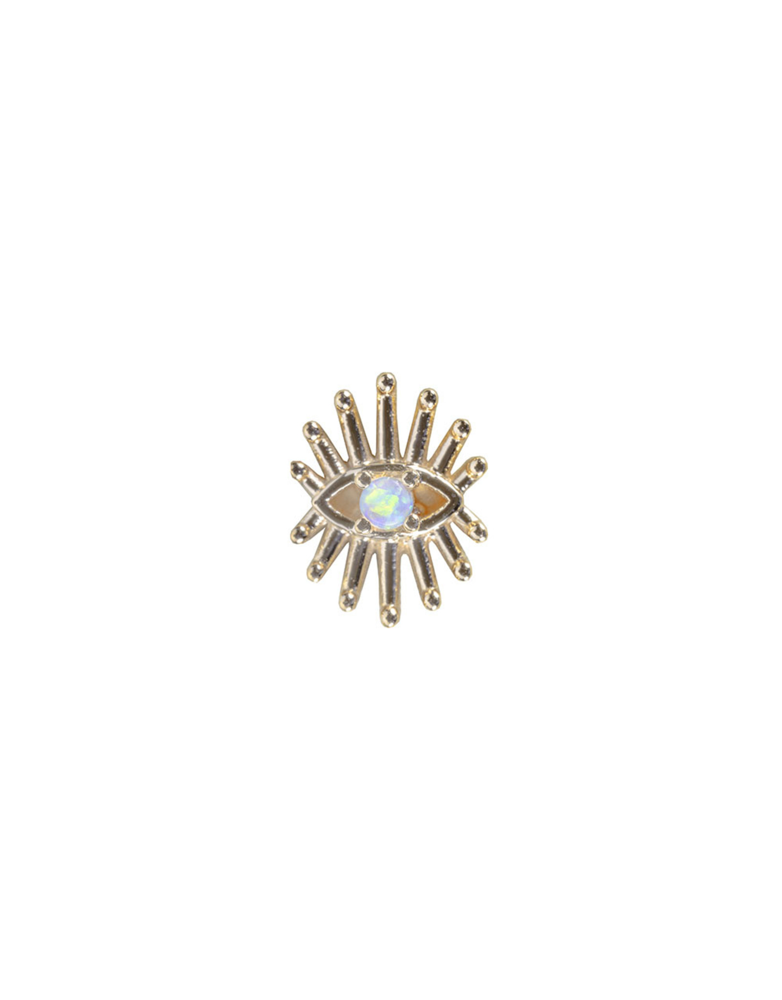 """BVLA BVLA rose gold """"Trixy"""" Eye threaded end with 1.5 AA white opal"""