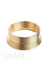 Tawapa Tawapa brass coil necklace