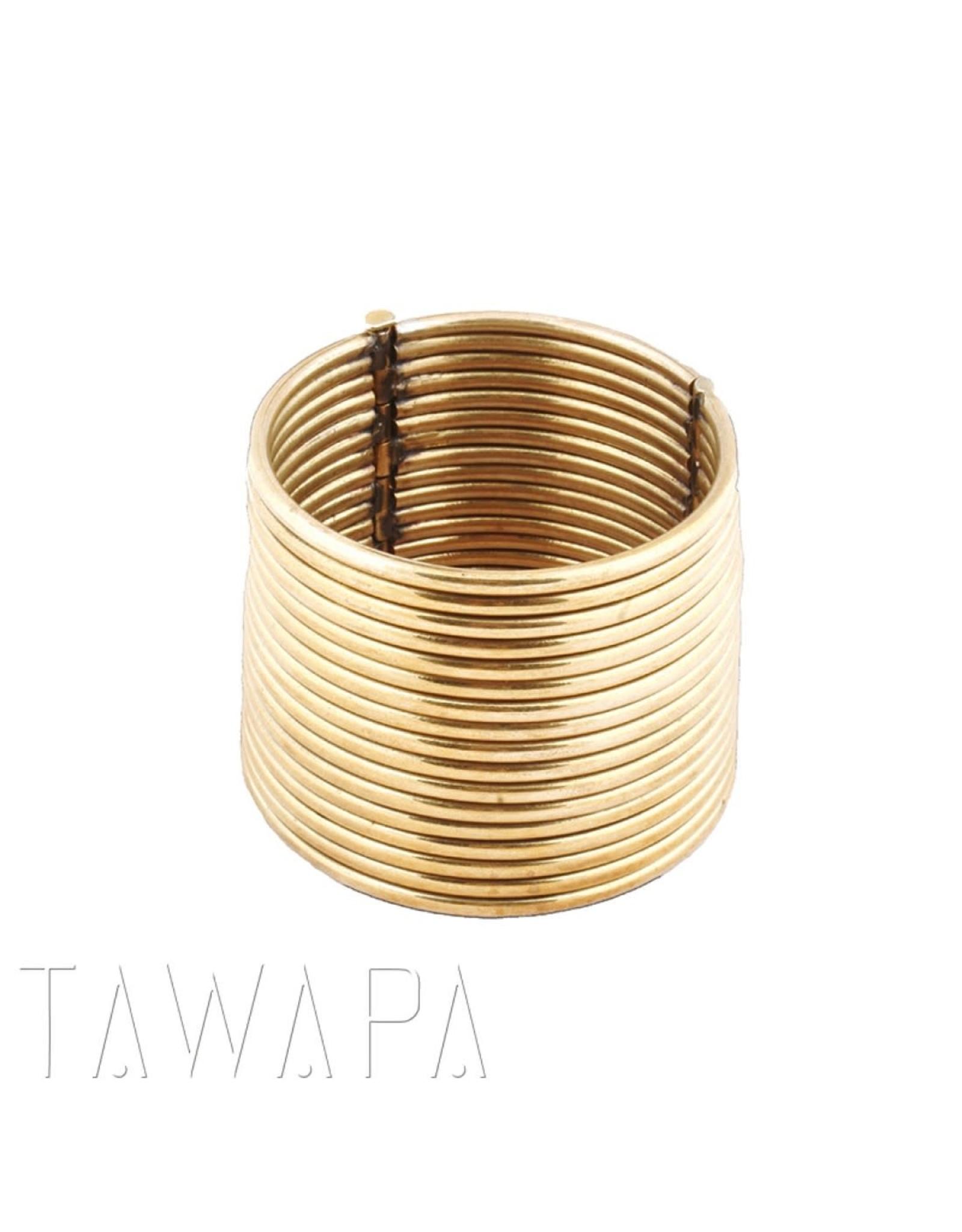 Tawapa Tawapa Brass Coil Bracelet