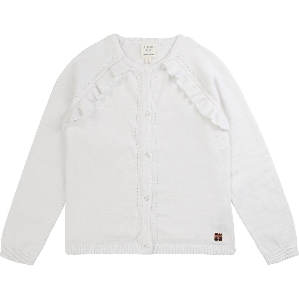 Carrément Beau Cardigan tricot - blanc -