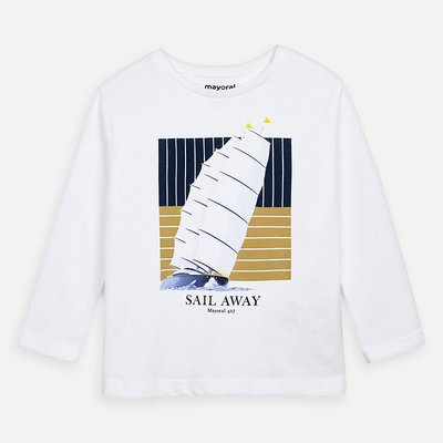 Mayoral Tshirt sail away - blanc -
