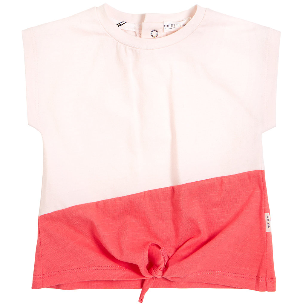 Miles Baby Tshirt noeud - rose -