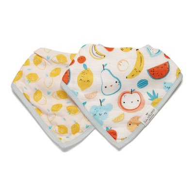 Loulou Lollipop Bavoirs de mousseline (2) - Cute Fruits