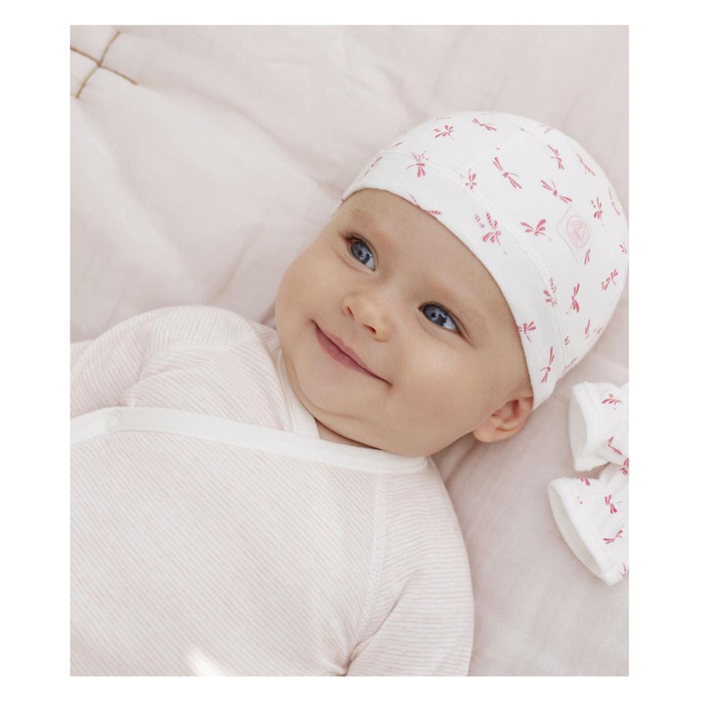 Petit Bateau 3 body naissance - manches longues - rose -