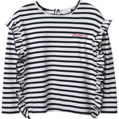 Carrément Beau T-shirt manches longues - ecru marine -