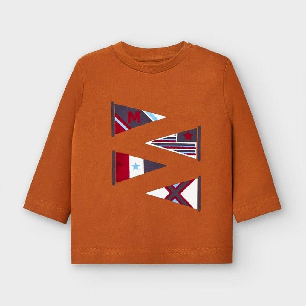 Mayoral T-shirt drapeaux - biscuit -