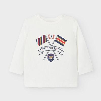 Mayoral T-shirt friendship - blanc neige -