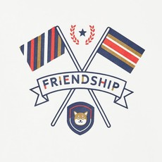 Mayoral T-shirt friendship - blanc neige -