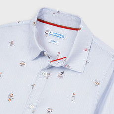 Mayoral chemise imprimé - ciel -
