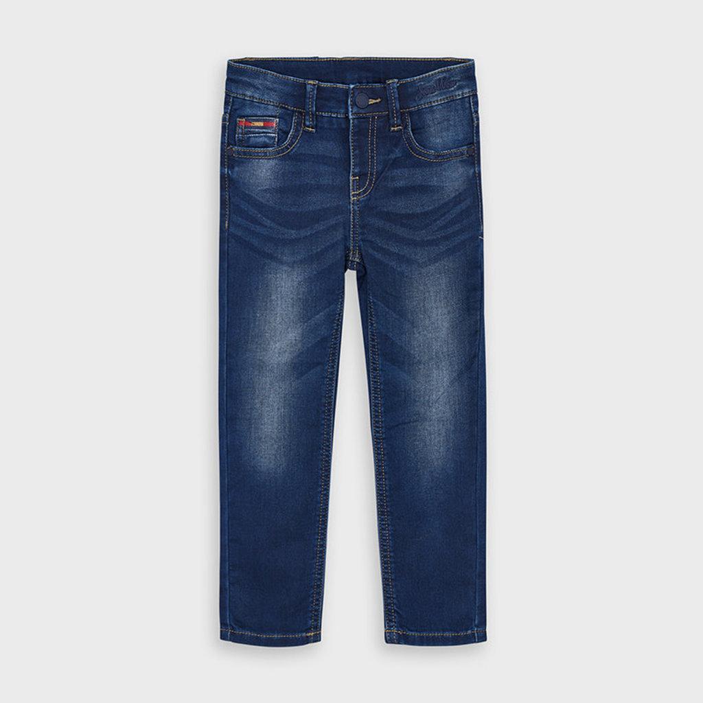 Mayoral Pantalon soft denim - foncé