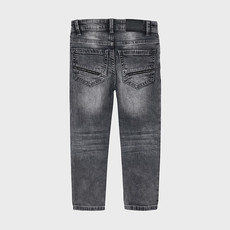 Mayoral Pantalon soft denim - gris -