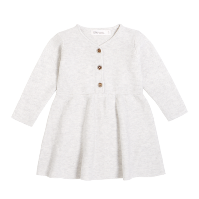Miles Baby Robe tricot - gris -