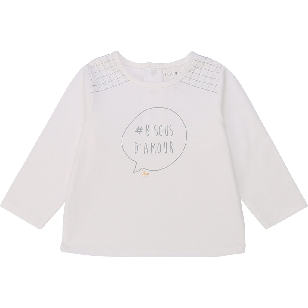 Carrément Beau T-shirt manche longue - offwhite -