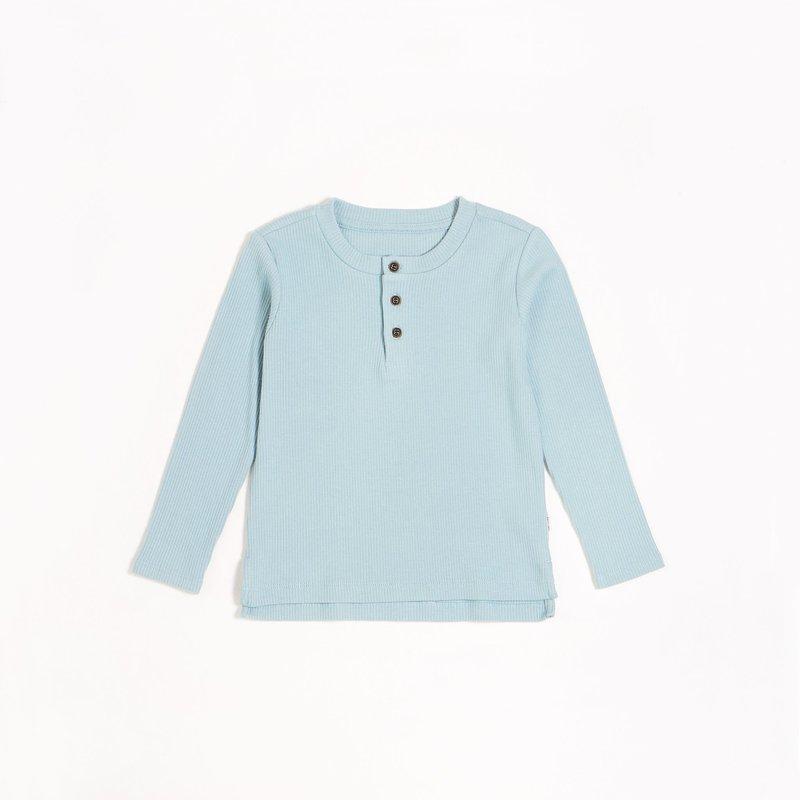 Petit Lem Chandail henley - bleu gratte-ciel -