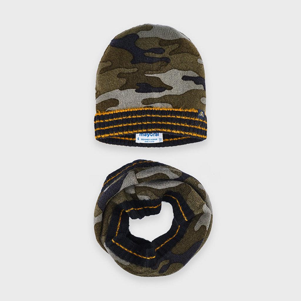 Mayoral Ens. bonnet et cache-cou - marino -