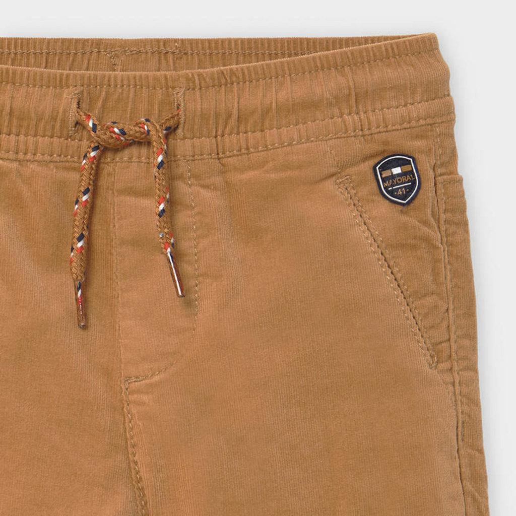 Mayoral pantalon velours doublé - amande -
