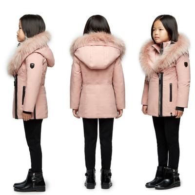 Manteau - rose givré - 5-6 ans