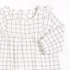Petit Lem Robe et collant - blanc& gris