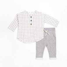 Petit Lem Ens. pantalon chandail - Blanc - gris